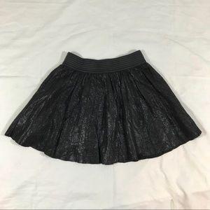 Parker Pleated Leather Miniskirt size M